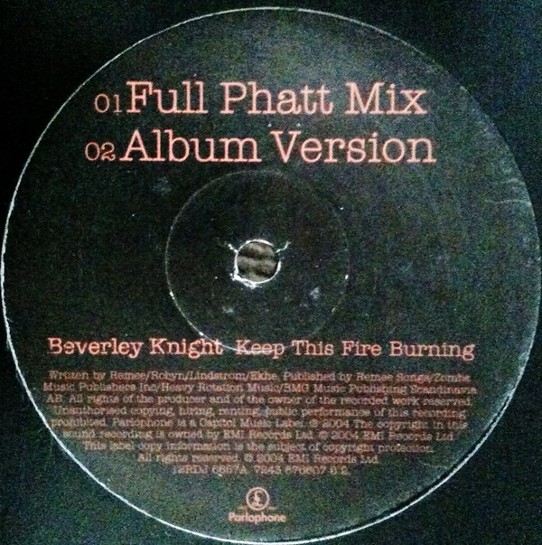 BEVERLEY KNIGHT - Keep This Fire Burning - 12 inch 45 rpm