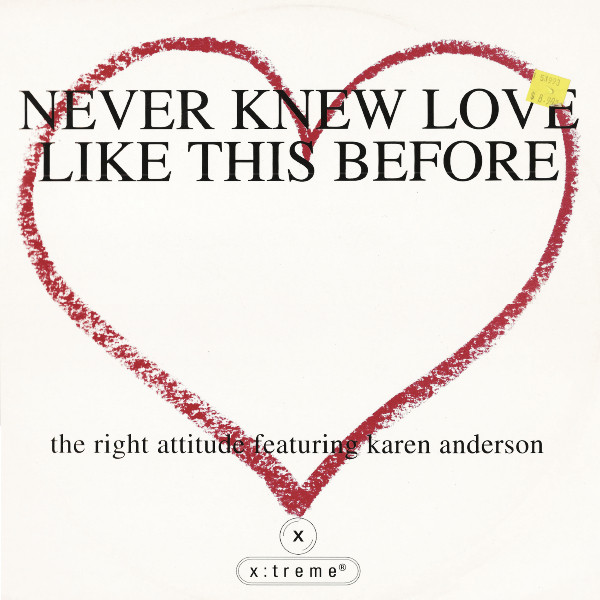 RIGHT ATTITUDE - Never Knew Love Like This Before - 12 inch 45 rpm
