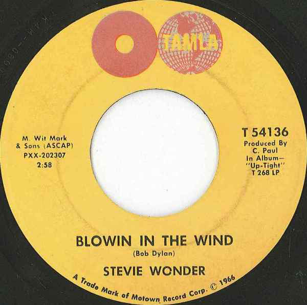 STEVIE WONDER - Blowin' In The Wind - 45T (SP 2 titres)