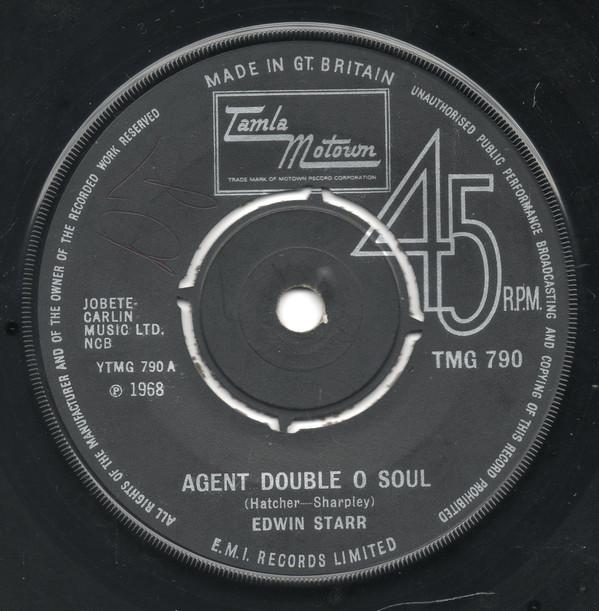 EDWIN STARR - Agent Double O Soul / Back Street - 45T (SP 2 titres)