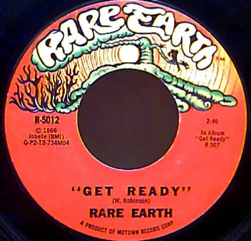 RARE EARTH - Get Ready - 45T (SP 2 titres)