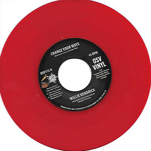 WILLIE KENDRICK - Change Your Ways / What's That On Your Finger - 45T (SP 2 titres)
