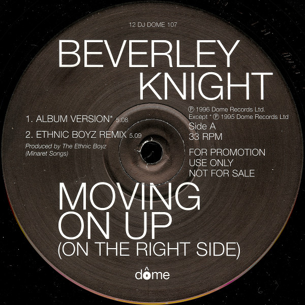 BEVERLEY KNIGHT - Movin On Up - 12 inch 45 rpm