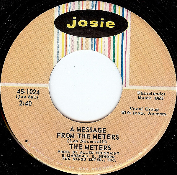 METERS - A Message From The Meters / Zony Mash - 7inch (SP)