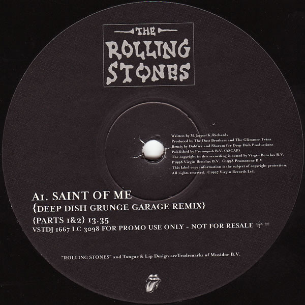 ROLLING STONES - Saint Of Me - 12 inch 45 rpm x 2