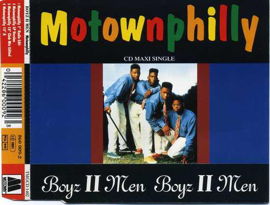 BOYZ II MEN - Motownphilly - CD single
