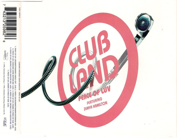 CLUBLAND FEATURING ZEMYA HAMILTON - Peace Of Luv - CD single