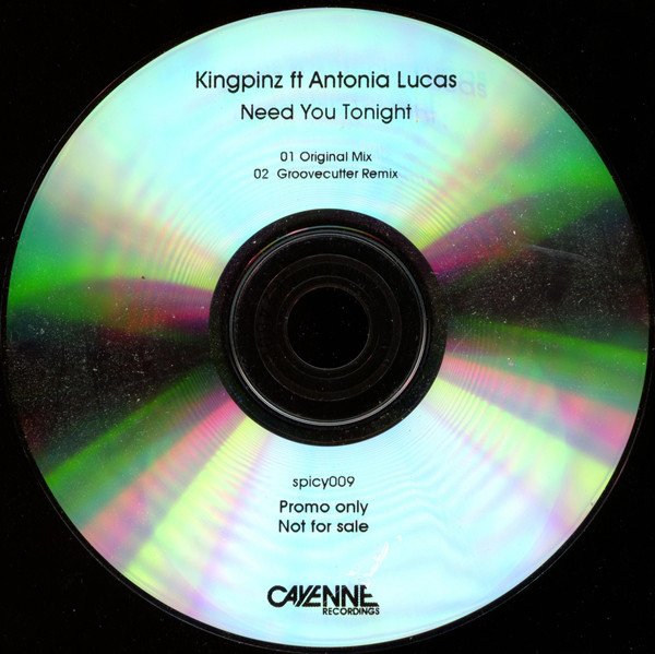 KINGPINZ FT ANTONIA LUCAS - Need You Tonight - CD single