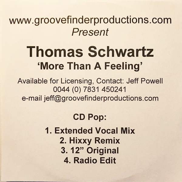 THOMAS SCHWARTZ - More Than A Feeling - CD single